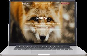 RedFox Web Design laptop