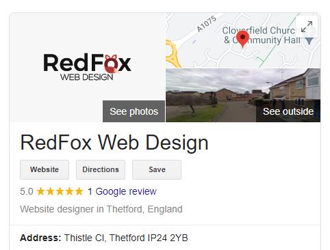 RedFox Web Design Thetford